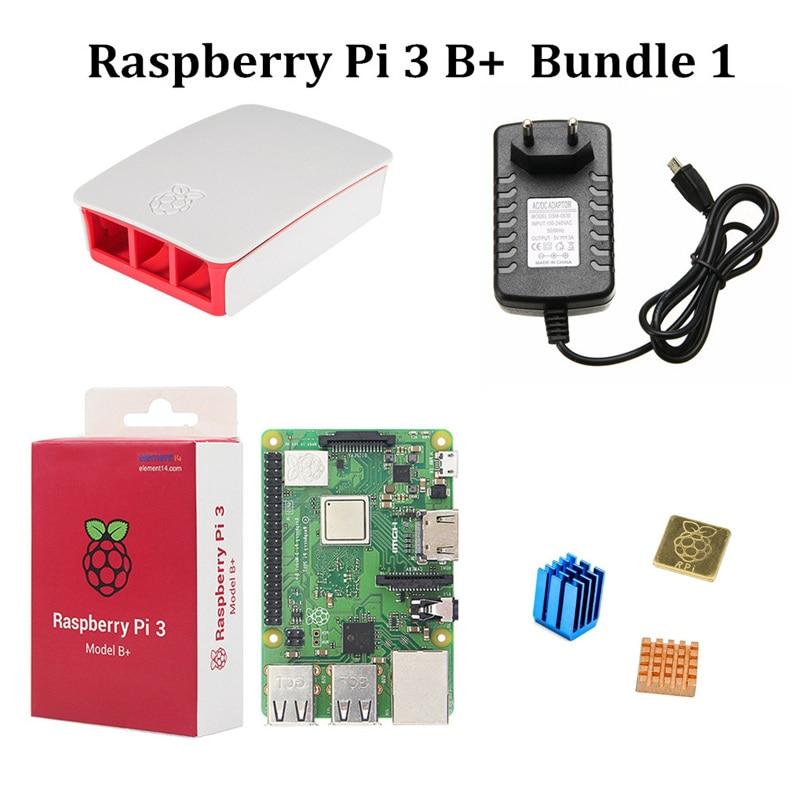 Kit de démarrage Raspberry Pi 3 modèle B + avec boîtier officiel 3.5
