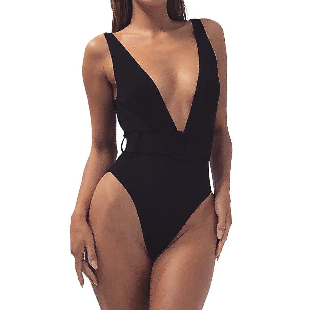Telotuny Women Swimwear Polyester Sexy Women Fashion Solid Button Push-up Pad Beach Bathing Bikini Beachwear Swimsuit Marc8 Choice Materials