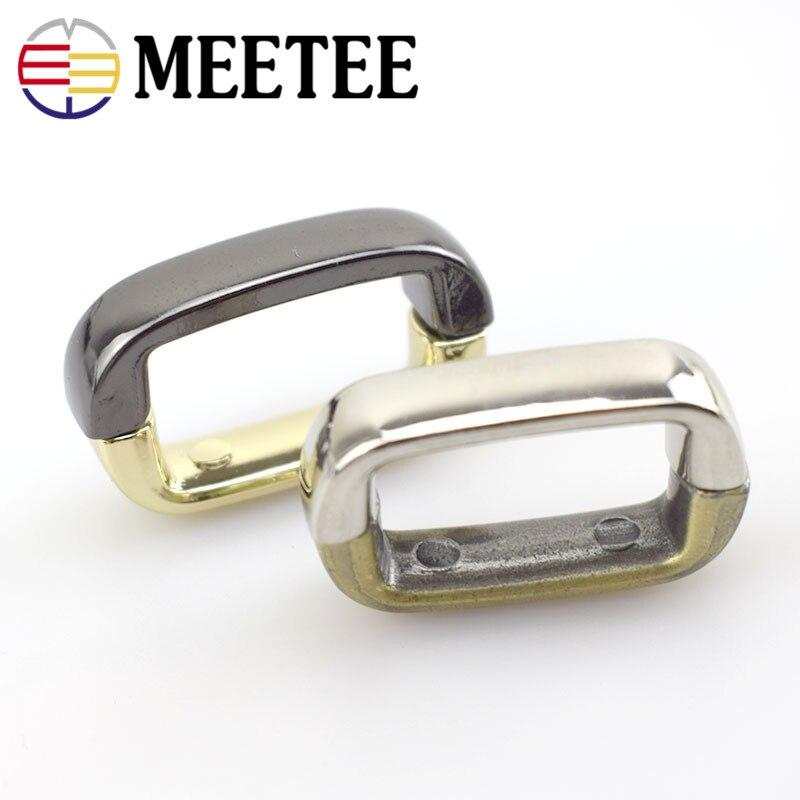 10pcs Meetee 2cm Metal Bridge Screw Buckles for Metal Bags Strap Belt Fixed Accessories Handbag Hardware Parts DIY Leather Craft in Buckles Hooks from Home Garden