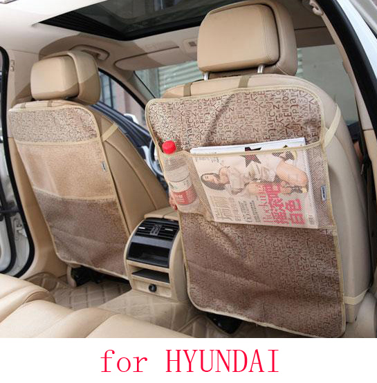 for hyundai tucson solaris i30 accent ix35 car seat covers baby Kick protector mats black waterproof car accessories interior