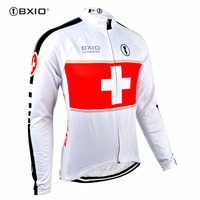 Bxio Winter Thermal Fleece Men'sCycling Jersey Shirt Bike Jersey Pro Bike Team Warm Long Sleeves Autumn Bicycle Clothing 001-J