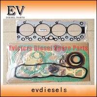 For Isuzu 4BD1 4BD1T Full cylinder head gasket kit+piston ring+crankshaft bearing+con rod bearing