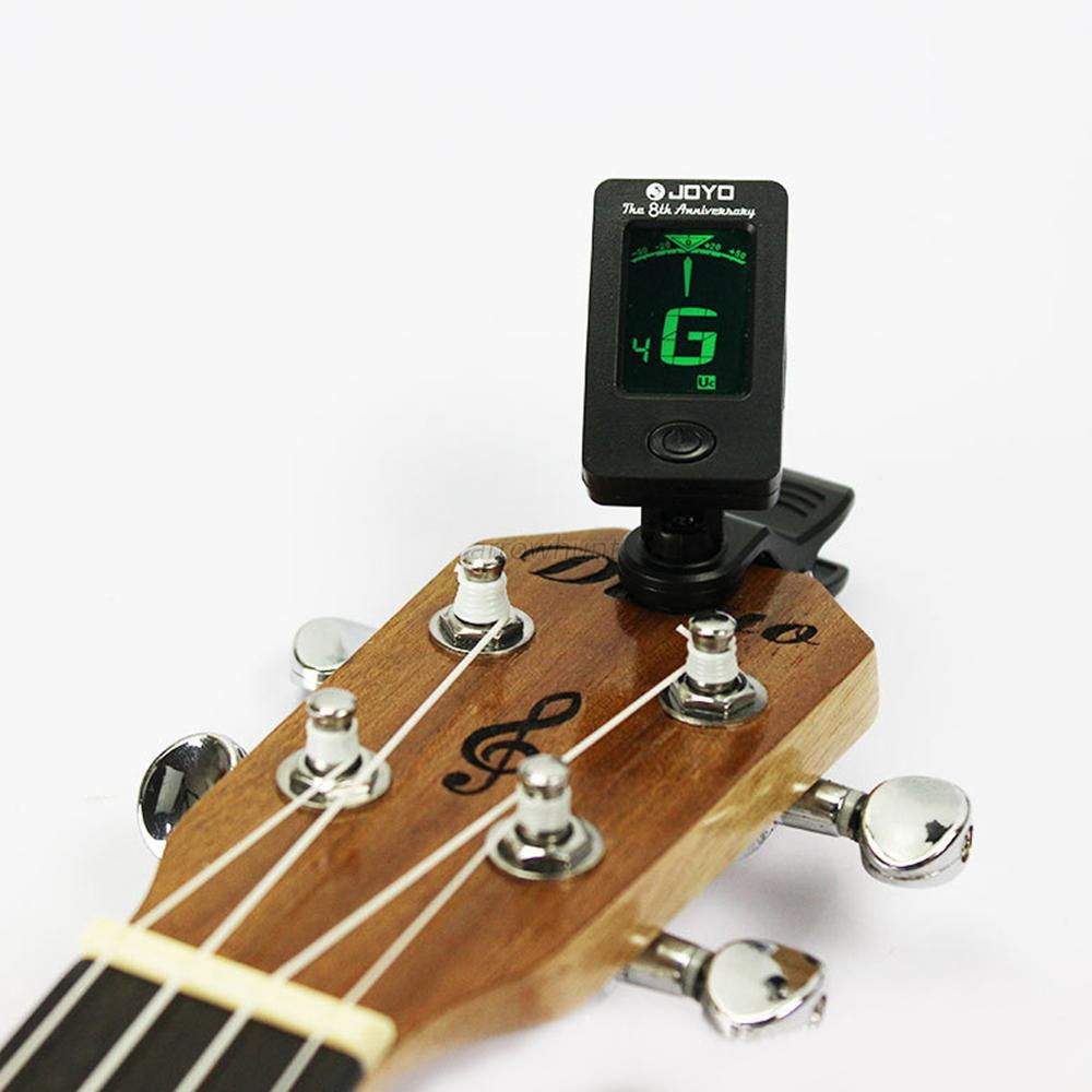 цены  360 Degree Chromatic Guitar Bass Rotatable JOYO JT-01 Bass Tuner Mini LCD Clip Tuner For Violin Ukulele Accessories