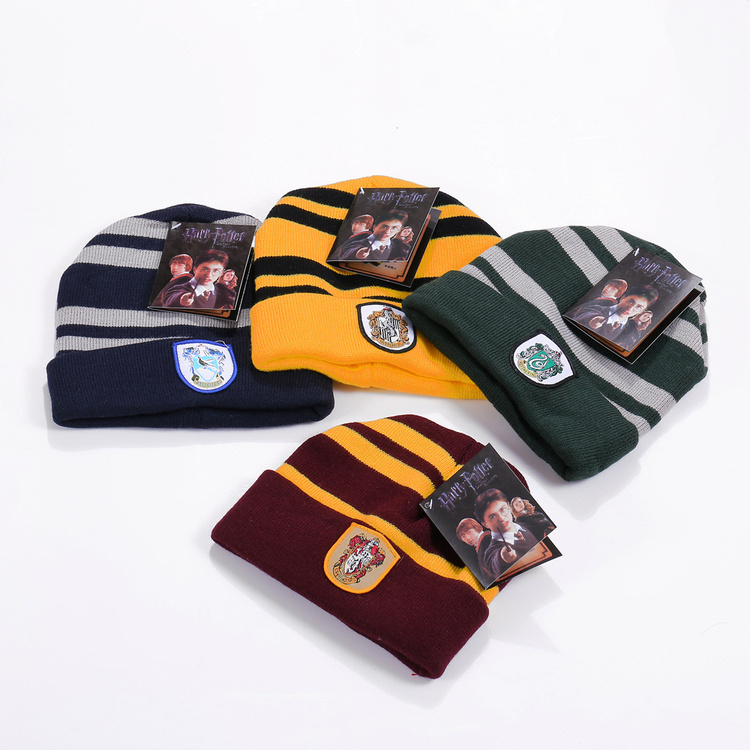 Potter Hat cap Gryffindor/Slytherin/Ravenclaw/Hufflepuff Cotton Polyester Badge Hats Potter Gloves Scarf Necktie
