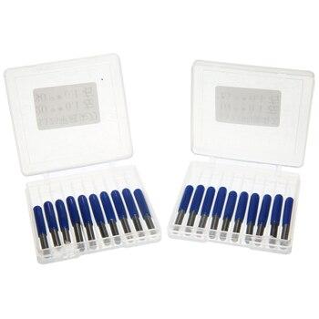 20 шт. 3,175 мм Карбид PCB гравировальные биты 10/15/20/30 градусов фрезерный станок с ЧПУ для фрезерных инструментов