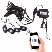 Multi Color RGB LED Rock Light Kits With Wireless Remote Control For Cars Truck Exterior 4