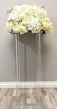2019 artificielle fleur faux fleur Vase artisanat décor Table de mariage pièce maîtresse Floral Stand colonnes pour fête de mariage