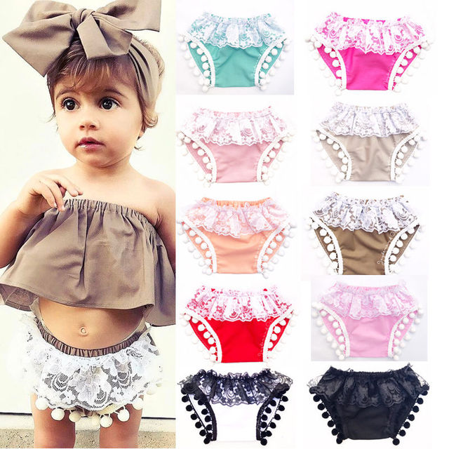 034029bb7fe36 US $2.25 6% OFF|2017 HOT Shorts Infantil Girls Tassel Shorts Toddler Kids  Baby Girls Lace Short Trousers Adorable Kids Baby Girl Summer Shorts-in ...