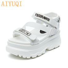 AIYUQI Platform sandals women 2019 new summer female Sneakers white casual shoes height Increasing student