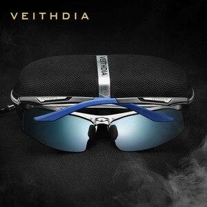 Image 3 - VEITHDIA Brand Summer New Aluminum Rimless Mens Polarized Sunglasses Sun Glasses Eyewear oculos de sol masculino For Men VT6562