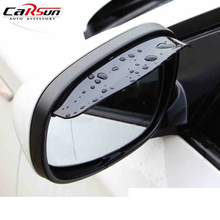 цена на Universal Automotive Car Universal Rain Shield Sticker PVC Rain Eyebrow Mirror Shield Shade Cover Rearview Mirror 3M Sticker