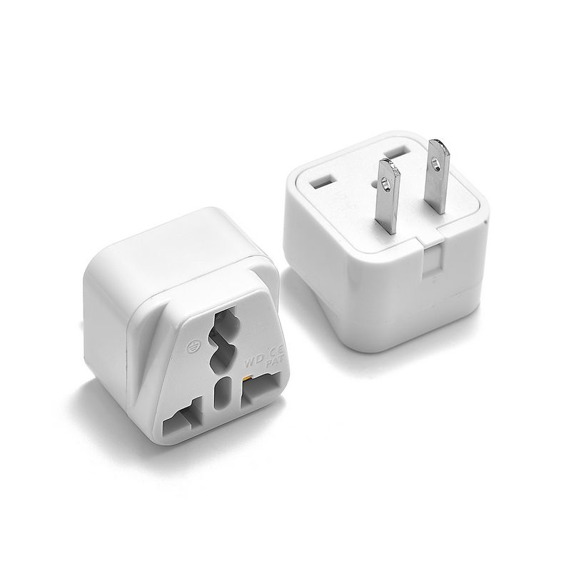 2pcs America Plug Adapter high quality Power Converter AU EU to US United States