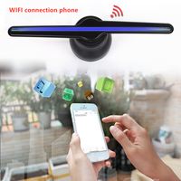 New WIFI Connect 3D Hologram Advertising lichtbak Display Led Fan Holographic Imaging Naked Eye Led Fans Advertisement Player