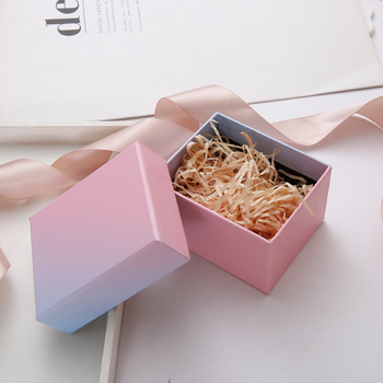 10 Pieces Lot Wholesale Colorful Rainbow Kraft Paper Jewelry Box with Raffia Bracelets Bangles Watch Gift Box Dropshipping недорого