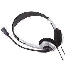 Buyincoinsหูฟังสเตอริโอ3.5มม.ชุดหูฟังหูฟังพร้อมไมโครโฟนไมโครโฟนVOIP SkypeสำหรับPCคอมพิวเตอร์แล็ปท็อป #21228