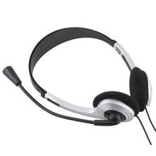 Buyincoins 3.5mm סטריאו אוזניות בגימור אוזניות אוזניות עם מיקרופון מיקרופון VOIP סקייפ למחשב נייד מחשב מחשב #21228