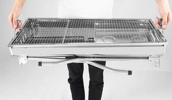 Grandi Griglie A Carbone | Pieghevole In Acciaio Inox Barbecue Grill Grande Durevole Charbroiler Forno Portatile Di Campeggio Esterna Del Carbone Di Legna Di Barbecue Griglie