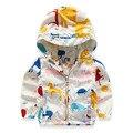 Marca Impreso Animal Niños Chaqueta de Primavera Otoño Niños Chaquetas Bebé 1-6 Años Los Niños Chicos ropa de Abrigo y Capa bebé Ropa de Las Muchachas