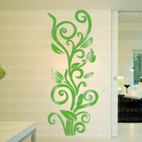 Wholesale Ikea Style Crystal 2mm Thick 3D Entrance Wall Sticker Wall ...