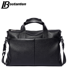 Bostanten 2017 Men Genuine Leather Briefcase Messenger Bags Men Bag For Notebook Nen Shoulder Bag Brand Leather Office Bags