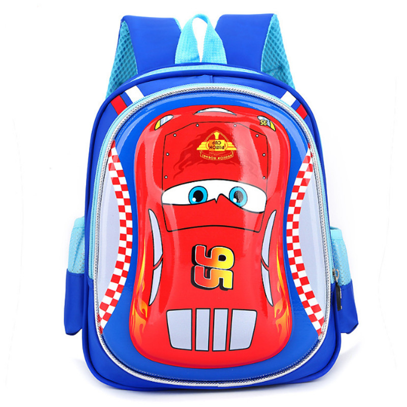 2018 3D 5-7 Year Old School Bags Boys New Semester Waterproof Car Backpacks Child  Book bag Kids Shoulder Bag Satchel Knapsack