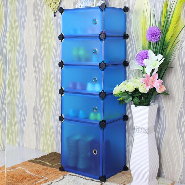 5 TIER plástico del zapato gabinete sala de estar zapatero plástico ABS Portable