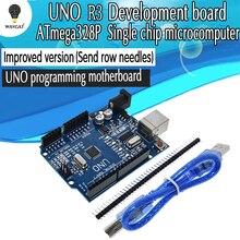 Модифицированная версия один набор UNO R3 CH340G+ MEGA328P Чип 16 МГц для Arduino UNO R3 макетная плата+ USB кабель
