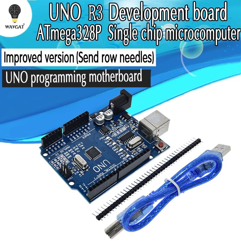 Arduino UNO Board Arduino Mini Soft Bear UNO R3 ATmega328P CH340 Development Board Fully Compatible with Arduino UNO R3 Arduino R3 Arduino IDE with Arduino USB Cable Arduino UNO Rev3