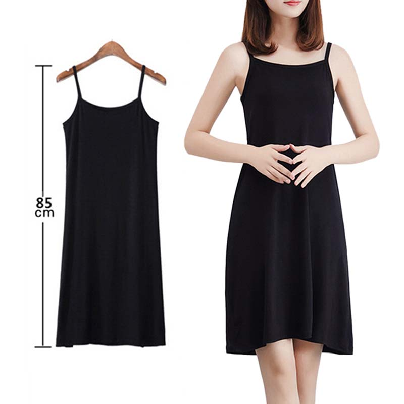 Women Sling Dress Casual Solid Spaghetti Short Dress Sleeveless Dress Slips Under Dress Sexy Ladies Vestido Ropa Mujer