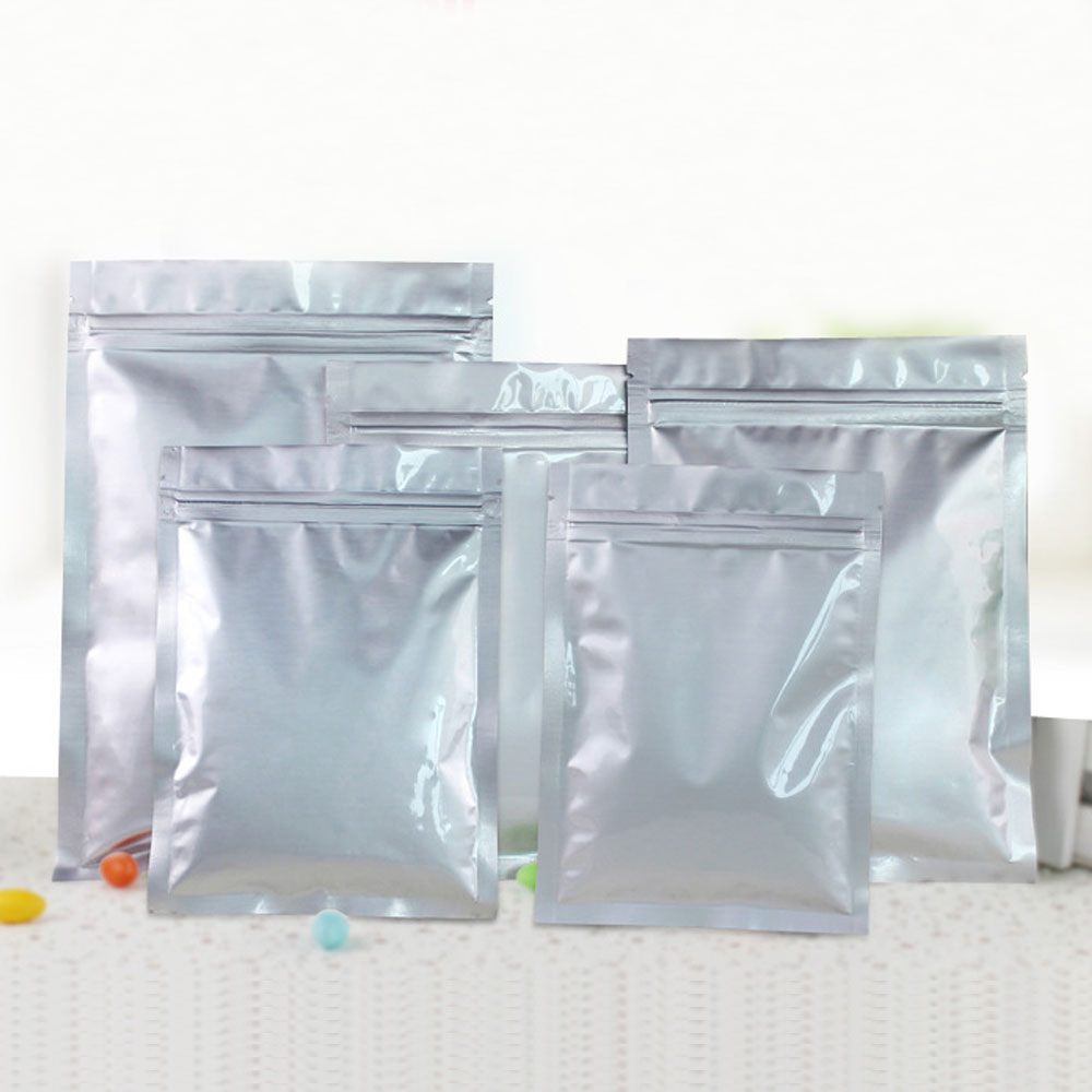 50pcs Aluminum Foil Packaging Bag Flat Zipper Bag Plastic Zip lock Gift Bags For Jewelry/Wedding/Storage/Display Pouches Gifts50pcs Aluminum Foil Packaging Bag Flat Zipper Bag Plastic Zip lock Gift Bags For Jewelry/Wedding/Storage/Display Pouches Gifts