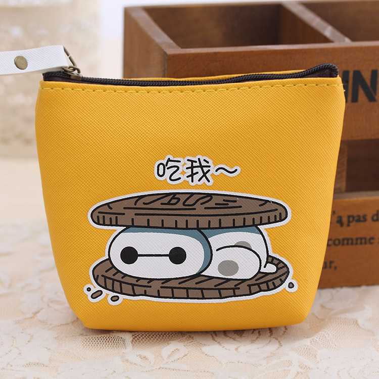 2016 Female students creative coin purse cute cartoon coin bag waterproof PU headphones small Zipper Change Wallet Card Holder