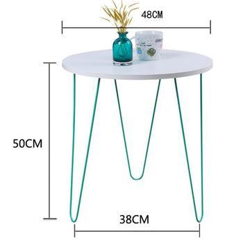 48*50CM Coffee Table Balcony Tea Table Bedside Table Sofa Side Round Table