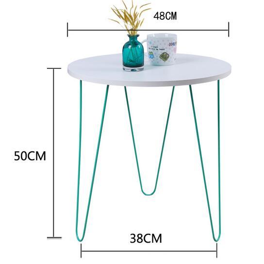 цена на 48*50CM Mini Coffee Table Balcony Tea Table Modern Bedside Table Sofa Side Round Table