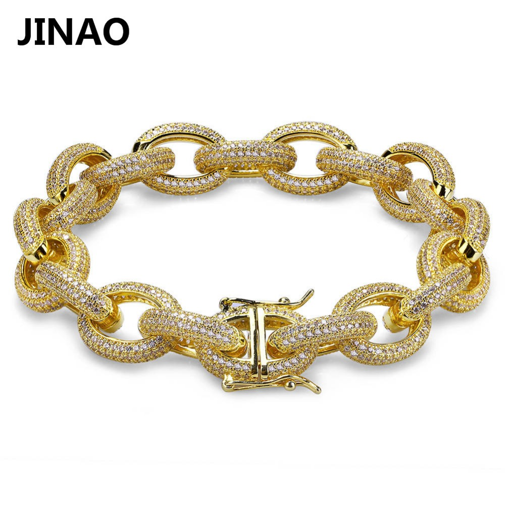 JINAO 12MM Hip Hop Iced Out...