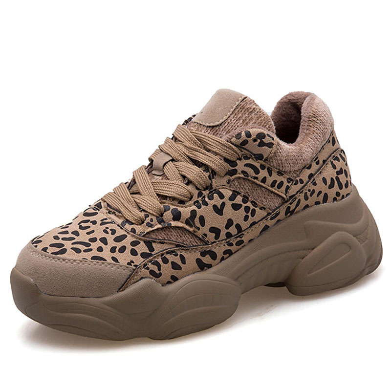 Moxxy 2019 Spring Leopard Shoes Woman Winter Sneakers Platform Chunky Sneakers  Women Casual Shoes Suede Dad d5a285cd1ba3