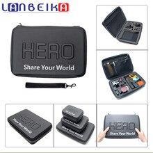 Lanbeika для GoPro Водонепроницаемый противоударный Большой сумка для Go Pro Hero 5 4 3 + SJCAM M20 sj6 sj5000 экен Интимные аксессуары (32*22*7 см)