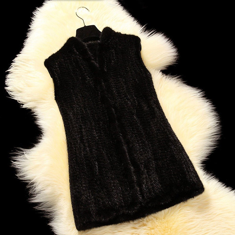 Clásico Piel 100cm 80cm black De Llegada 60cm Chaleco 16208 Nueva 100cm 80cm Estilo Tejido brown black Visón Brown brown qA67xx5Xw