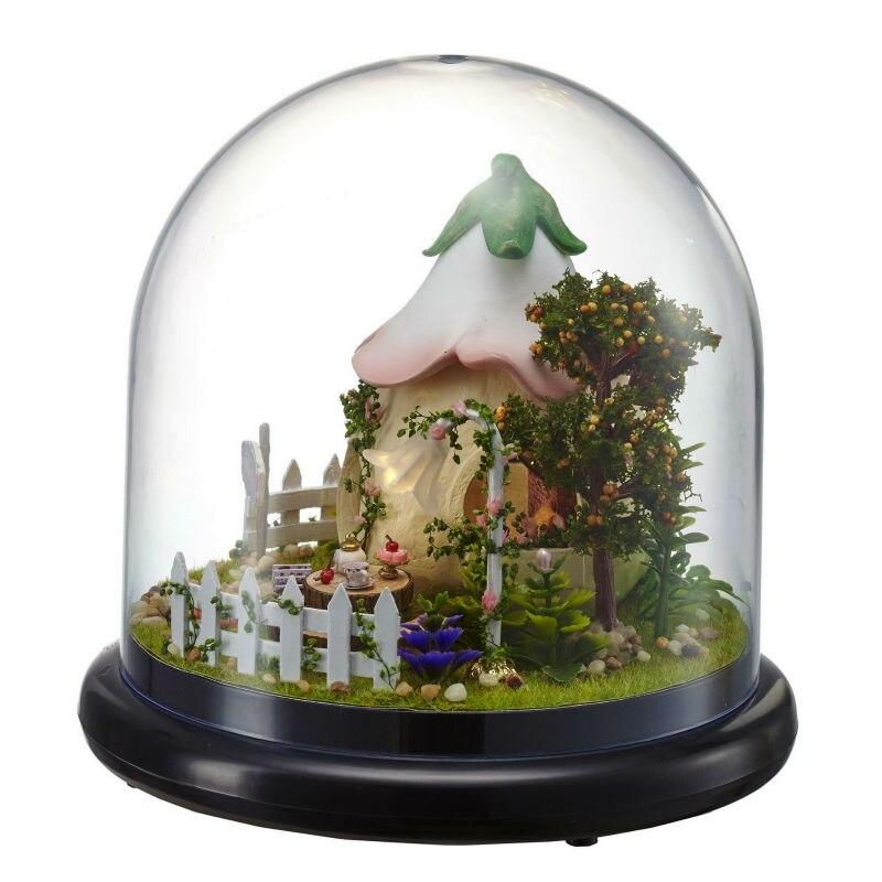 DIY Кукольный дом Мебель миниатюрный 3D Пазл деревянный кукольный домик miniaturas модель Куклы для дома подарок на день рождения Игрушечные лошад...