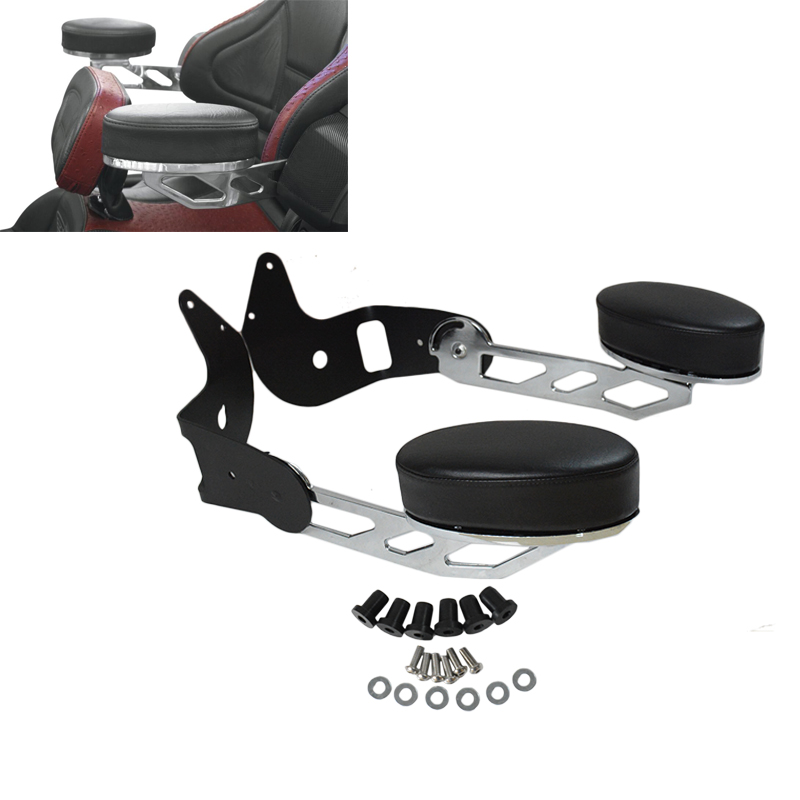 New Chrome Motorcycle Rear Adjustable Passenger Armrests For Honda Goldwing GL1800 2001-2017 16 15 14 chrome cnc aluminum motorcycle rear trunk luaggage rack rubber non slip case for honda goldwing gl1800 2001 2013