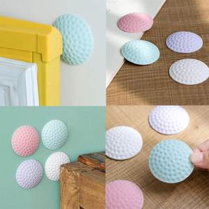 Creative Self Adhesive Silicone Wall Protectors Doorknob Lock Door Handle Bumpers