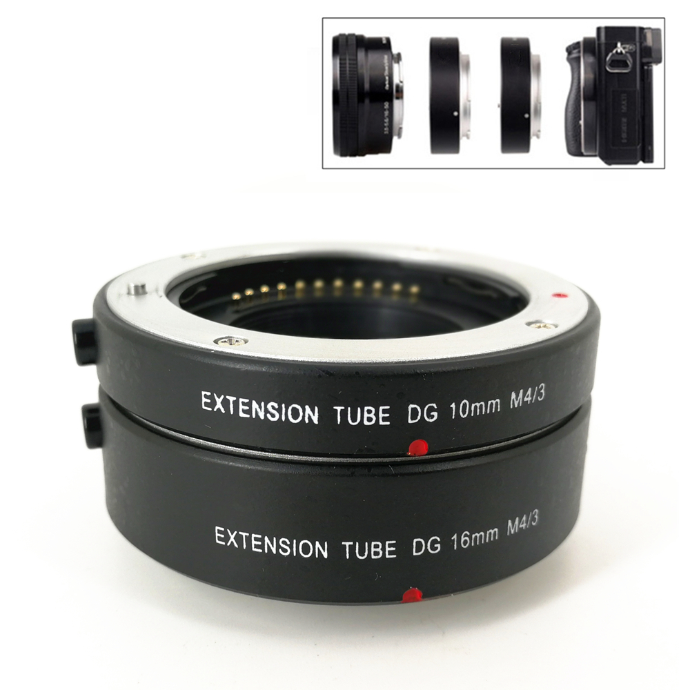 Électronique AF Autofocus Macro Tube Extension Ring Set pour M43 MFT Olympus EP5 EM5 EM1 EM10 Mark II III panasonic G6 G5 GX7 GX8