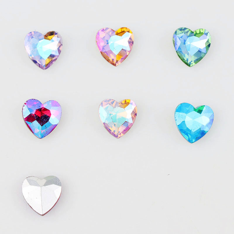 <font><b>16mm</b></font> AB Color Love Heart Pointed Back Fancy Stone Crystal <font><b>Glass</b></font> For DIY Wedding Dress Jewelry Stones <font><b>Beads</b></font> image