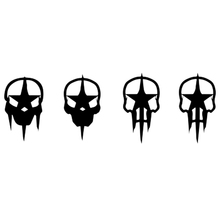 CS-579#10*30cm sticker H1Z1 of the skull funny car sticker and decal silver/black vinyl auto car stickers day of the dead girl skull head vinyl wall decal sticker