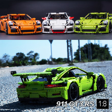 2017 New 2726PCS 3368 technic series 911 GT3 RS Car Model Building Kits minis Blocks Bricks Compatible 42056 20001 DIY