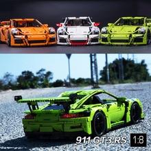 2017 Nuevo 2726 UNIDS 3368 serie técnica 911 GT3 RS Coche Kits de Edificio Modelo minis Bloques Ladrillos Compatible 42056 20001 DIY