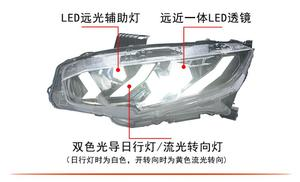 Image 3 - 2016~2018/2012~2015year Car Styling for Civic Headlight,hid xenon/LED DRL Fog for Civic head lamp