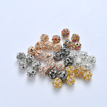 30pcs/lot Round Rhinestone Crystal Beads 6mm 8mm 10mm Disco Ball Pave Zirconia Charm Beads for Jewelry Making DIY Accessories