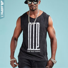 Aimpact Fashion Soft Tank Top Men Hip Hop Comforty OTP Sleeveless Shirts Sexy Male Fitness Brand Clothing Activewear Tee AM1029(China)
