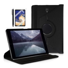 цена на 360 Rotating Folding PU Leather Case for Samsung Galaxy Tab S4 10.5 inch SM-T830 / SM-T835 Tablet +Screen Protector +Stylus