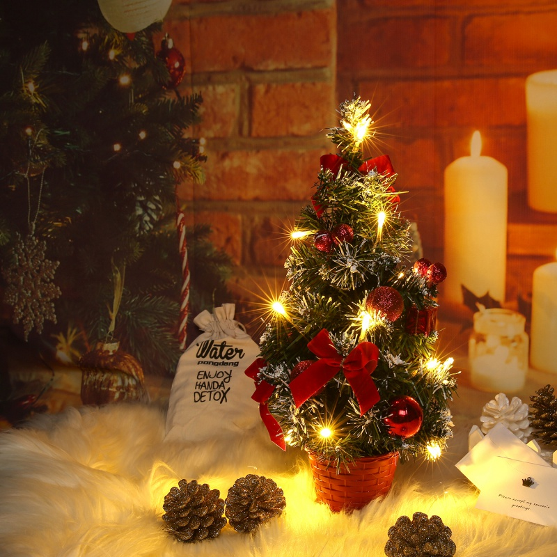 40CM Tabletop Christmas Tree Xmas Glitter Pine Tree Artificial Snow White  Tree For Christmas Decoration New Year Gift-in Trees from Home & Garden on  ... - 40CM Tabletop Christmas Tree Xmas Glitter Pine Tree Artificial Snow